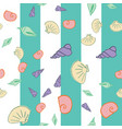 sea shells seamless pattern design vector image vector image