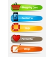 Set of Buttons with icons vector image vector image