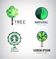 Set of green tree logos Eco organic vector image vector image