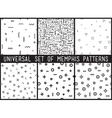 Set of universal fashion geometric seamless vector image vector image