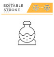 sewerage tank line icon vector image vector image