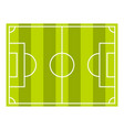 Soccer field or football grass field icon isolated vector image