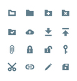 solid grey various file actions icons set vector image vector image