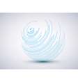 Sphere background vector image vector image