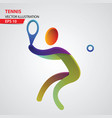 tennis color sport icon design template vector image