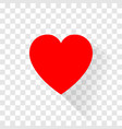 the red heart icon design with shadow vector image vector image