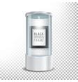 transparent glass museum showcase podium with dark vector image vector image