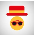 travel tourist hat concept sunglasses accesorie vector image vector image