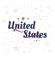 usa lettering label badge flat vector image vector image