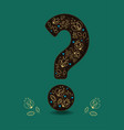 valentine card brown question mark and flowers vector image