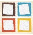 Vintage Torn Paper Background vector image vector image