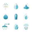 water ecology freshness characters in a flat vector image vector image