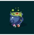 Pot of Green Potion and Eyes vector image