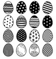 set of eggs for easter day vector image