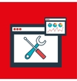 page web internet tool vector image