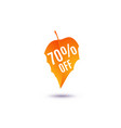 70 percent off discount vector image