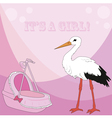 A Visit From The Stork vector image