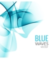 Abstract Blue business line wave white vector image