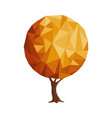 abstract low poly style gold tree concept vector image