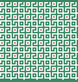 abstract seamless maze pattern geometric green vector image vector image