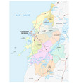 administrative political and roads map the vector image vector image