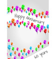 anniversary poster 60 years vector image vector image