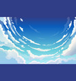 blue sky with white clouds clear sunny day vector image vector image