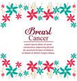 breaster cancer card celebration vector image vector image