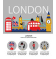 british london symbols poster infographic vector image vector image