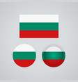 bulgarian trio flags vector image vector image