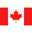 canada flag icon in flat style canadian national vector image
