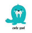 cartoon cute seal isolated on white background vector image