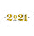 christmas poster 2021 new year white vector image vector image