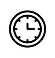 clock icon isolated flat design vector image