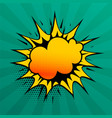 cloud burst comic style speech effect background vector image vector image