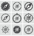 collection compass icons vector image