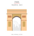 colorful paris landmark 6 vector image vector image