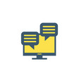 comments icon vector image