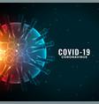 covid19-19 coronavirus pandemic outbreak vector image vector image