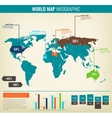 Detail infographic World Map and Information vector image vector image