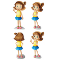 Different moods of a young girl vector image vector image