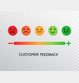 feedback design with emotions scale background vector image vector image