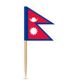 flag nepal flag toothpick 10eps vector image vector image
