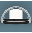 flat dais round stage lights truss vector image vector image