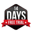 Fourteen days free trial vector image vector image