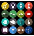 Gender icons set flat vector image vector image