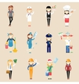 Girl characters in professional clothing vector image vector image