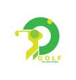 golf logo design vector image vector image