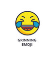 grinning emoji wit h face line icon sign vector image vector image
