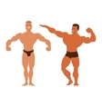 Gym fitness bodybuilder man vector image vector image